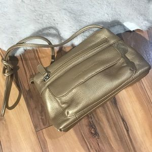 💎 Small Gold Stone Mountain Leather Purse